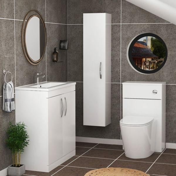 White Bathroom Cabinet in the UK